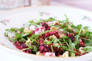 Rote Beete Salat mit Rucola