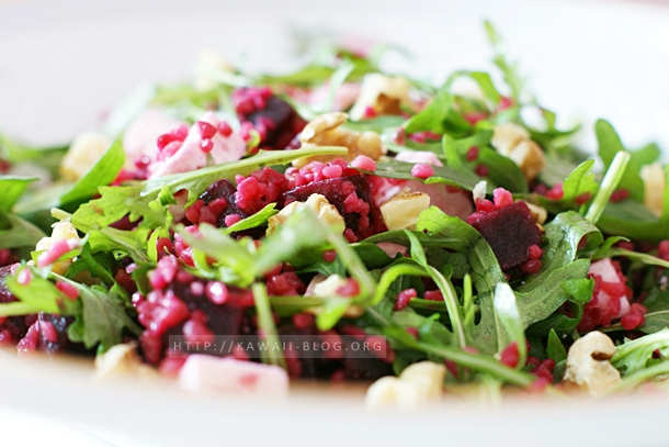 Rote Beete Salat mit Bulgur und Feta