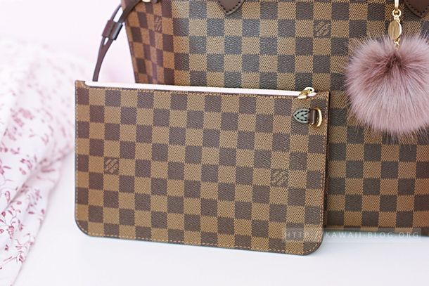 Louis Vuitton Clutch Damier Ebene Canvas