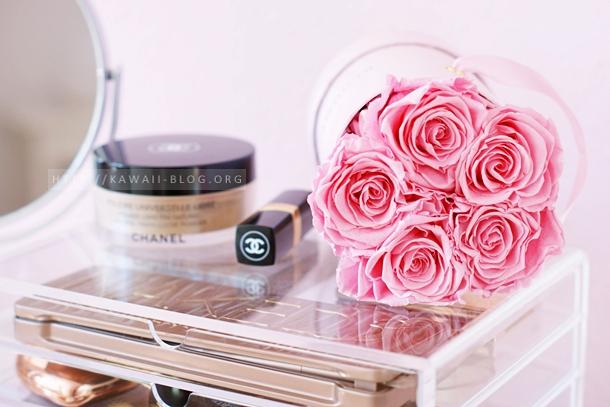 Flowerbox Infinity mit rosafarbenen Rosen