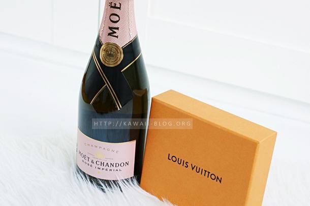 Stillleben Champagner Moet