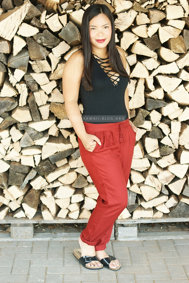 Outfit Sommer schwarz rot