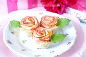 Apfelrosen Cupcakes