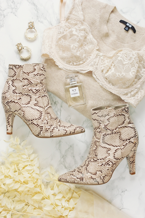 snake print ankle boots