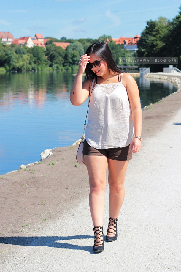 Outfit Sommer Lace Up Schuhe mit Schürung