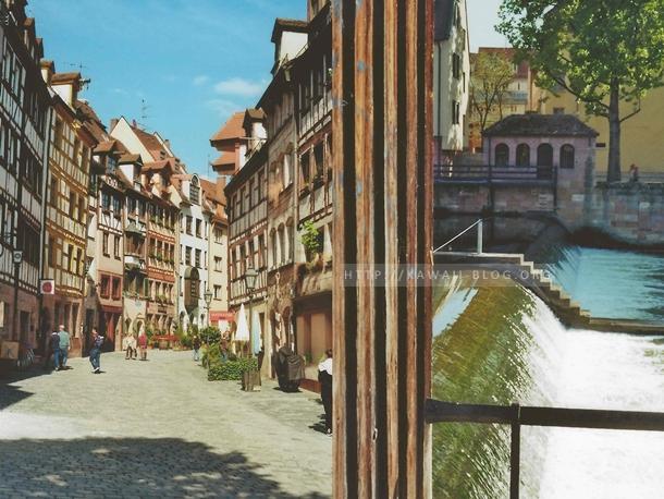Nürnberg fotografiert mit einer alten, analogen Kamera