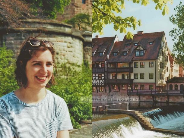 Alstadt von Nürnberg im analogen Look