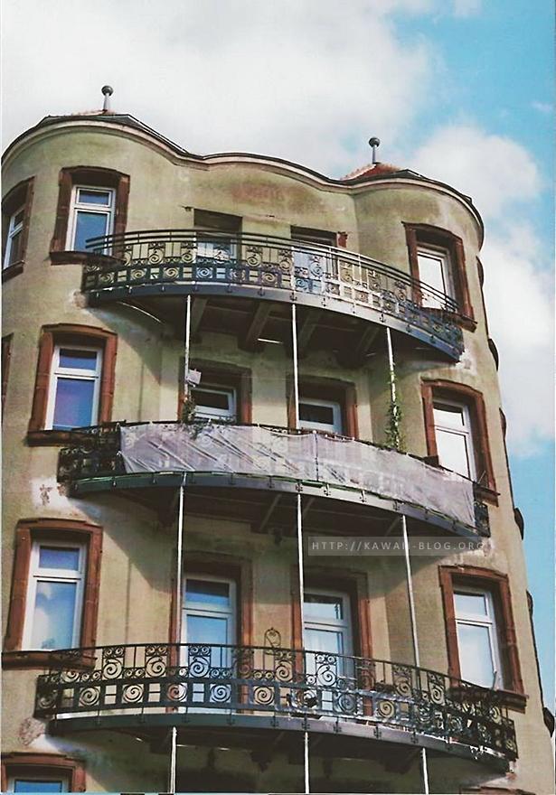 Altes Wohnhaus in Gostenhof analog fotografiert