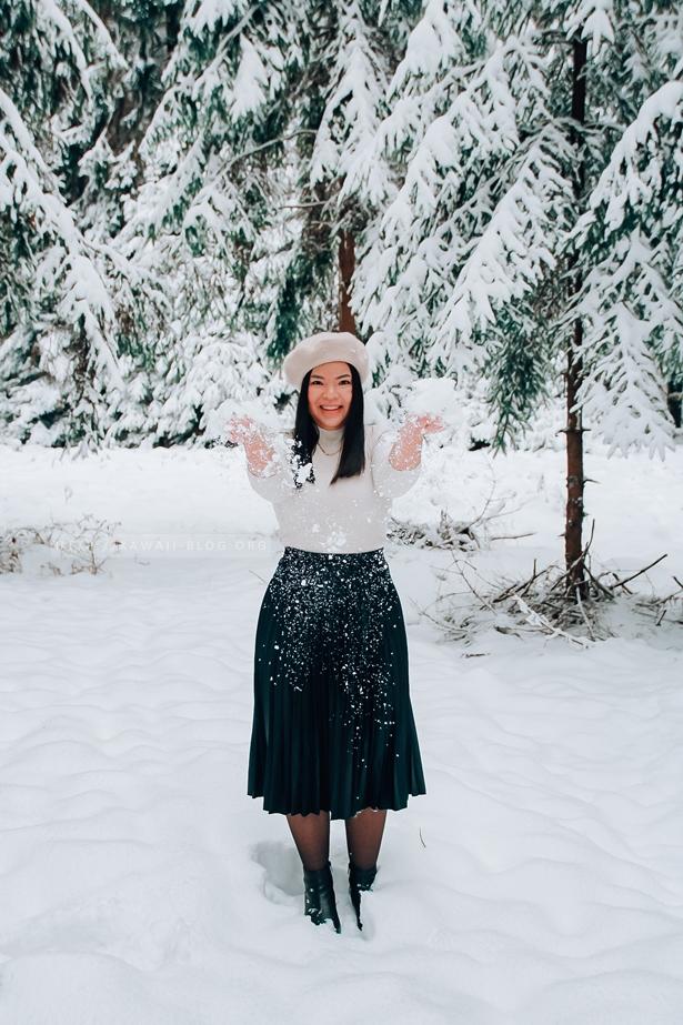Schnee in Mittelfranken